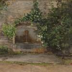 arte_La fontana nel giardino