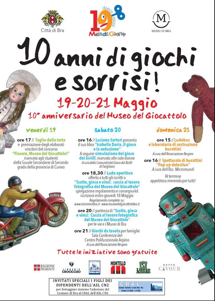 programma 10 anni museo giocattolo bra