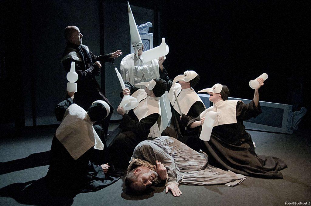 Il malato immaginario-nella foto una scena dello spettacolo