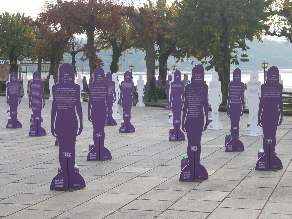 sagome voci nel silenzio violenza donne
