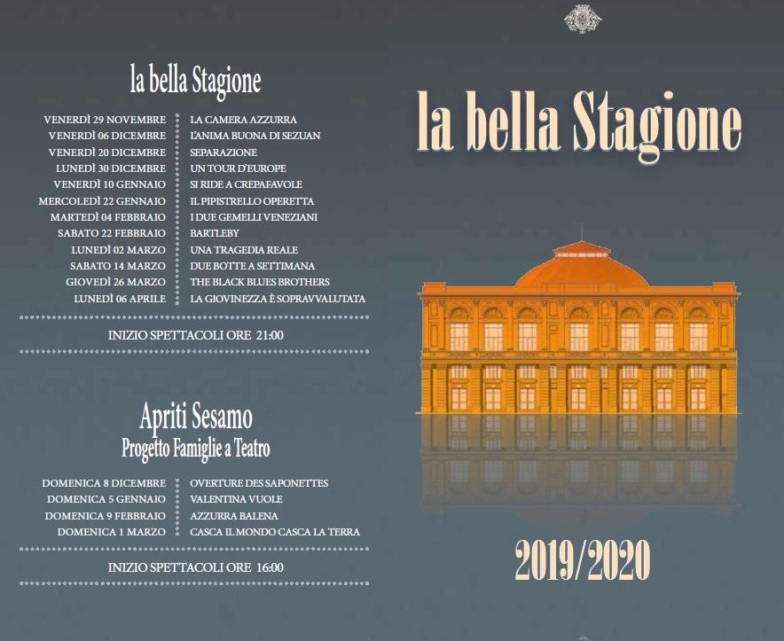 teatro politeama stagione 2019 2020_date titoli